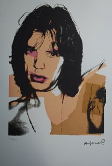 Andy Warhol - Mick Jagger-  Lithograph Georges Israel Editeur