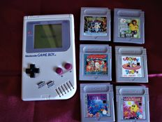 Nintendo Gameboy - 1989 - with 6 games