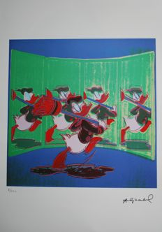 Andy Warhol - Lithograph Georges Israel Editeur - Donald Duck (ca. 1980's)