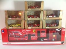 Brumm / New Ray - Scale 1/43 - Lot of 7 Cars Competition Ferrari and Workshop Truck