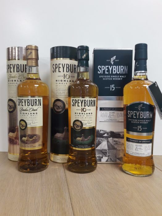 3 bottles - Speyburn : Bradan Orach & 10 years old & 15 years old