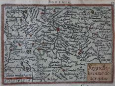 Czech Republic, Bohemen; A. Ortelius / Ph. Galle - Regni Bohemiae Descriptio - 1588