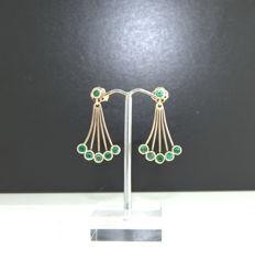 Emerald Earrings-designed ***no reserve price***