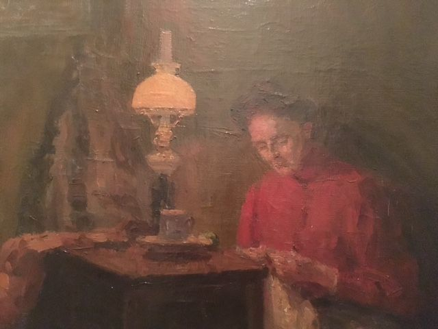 Anonymous (19th/20th century) Interno con signora
