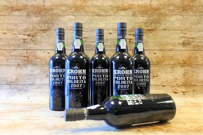 2007 Colheita Port Krohn - bottled in 2017 - 6 bottles