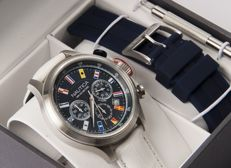 NAUTICA – Model NAI18516G – Chronograph men's wristwatch with spare strap – New