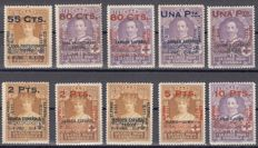 Spain 1927 - Series XXV Anniversary of the Coronation of Alfonso XIII - Edifil 392/401