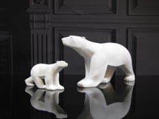 François Pompon (after) - 2 polar bears Ours Blanc