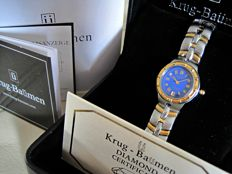 Krug Baümen Regatta 4 Diamond Blue Dial Two Tone Strap 2615DL