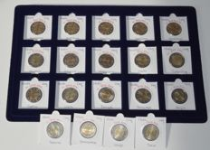 Europe - 2 Euro 2009 'Ten years EMU' from 15 countries (19 coins in total)