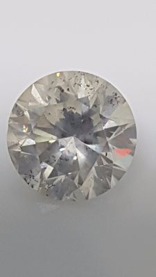 2.03 ct - Round Brilliant - White - G / SI1 - No minimum price