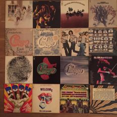 16 Album Lot Chicago-Blood Sweat And Tears-5 Compilations