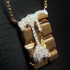 18K necklace with 0.27ct of diamond