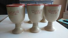 Six sandstone pots -Battle of Waterloo - 1815 - 20th century