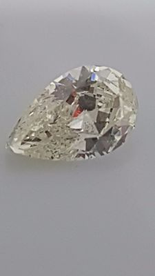 1.01 ct - Pear cut - White - I / VS1 - No minimum price