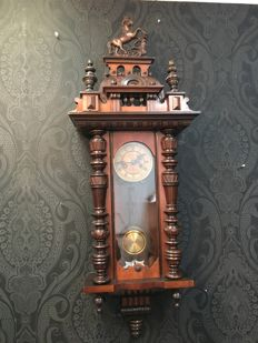 Antique horse clock - Gustav Becker - late 1800s