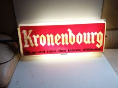Large illuminated advertising Kronenburg. 1985.