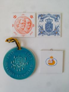 Lot with 4 Royal Family-Memorial items