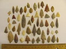 Neolithic arrowheads - 13/45 mm (51)