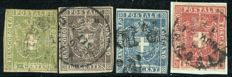 Tuscany 1860 – Lot of 4 stamps – Sassone No.  18/21.