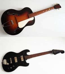 2 old guitars 1950s/60s - Egmond / Lewa - fixer-uppers