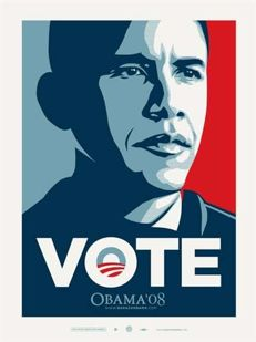 Shepard Fairey (Obey) - Obama Vote - 2009