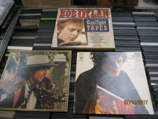 5 bob dylan records. one rare 3 lp gaslight box,one greatest hits,an 1 other Dylan album