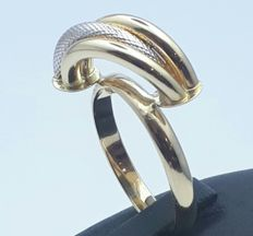 14 Ct  Hollow Gold Ring , Size 19 m