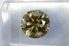 Diamond of 2.02 ct - fancy greenish yellow - SI2 - No Reserve Price
