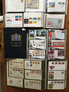 Netherlands and Overseas 1963/2001 – Collection of FDCs in 8 albums