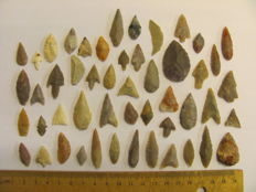 Neolithic arrowheads - 17/38 mm (50)