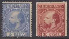 The Netherlands 1867 - King Willem III, third emission - NVPH 7IIC and 8IIB