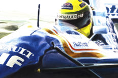 Ayrton Senna - Williams-Renault FW16 Imola 1994 Formula 1 Car F1 - Art Print - Hand signed by Artist Andrea Del Pesco + COA.