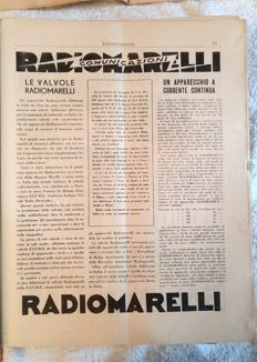 Radiocorriere Weekly magazine of the Ente Italiano Audizioni Radiofoniche - 52 albums - 1933