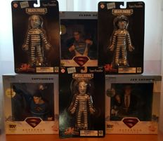 DC Direct 3 busts of Superman, Clark Kent and Lex Luthor + Headliners - The three Stooges