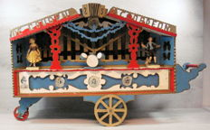 Fairground attraction model organ self- build 96 cm high - Netherlands - circa 1950