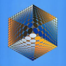 Victor Vasarely - Vasa Hexagone (two works)