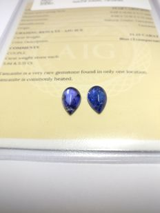 Couple Tanzanite Blue 11.15 ct   No Reserve Price