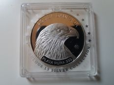 "Andorra – 5 Diners 2011 'Fabulous 15 – Eagle' with an ""f15"" privy mark – silver"