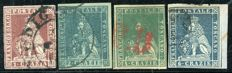 Tuscany, 1951 – Lot of 4 stamps – Sassone 4e, 5/7.