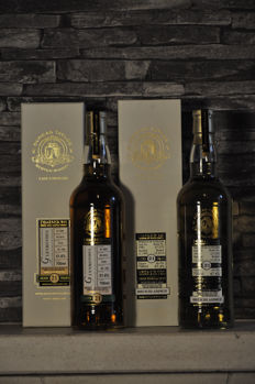 2 bottles - Bruichladdich 21 years 1992 old & Glenrothes 21 years old 1991 - Duncan Taylor Cask Strength