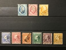 The Netherlands 1864/1869 - King Willem III and Coat of Arms Stamps - NVPH 4/6, 7/12, 13/18