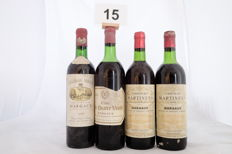 1x 1970 Chateau Siran Margaux, 1x 1975 Clos de Quatre Vents Margaux, 2x 1978 Chateau Martinens Margaux, France - 4 Totale Bottles.