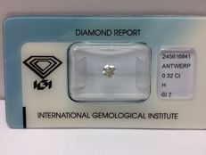 Brilliant 0.32 ct H SI 2 with IGI certificate