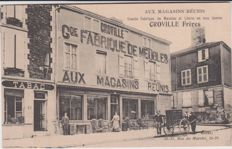 Exceptional lot of 50 French old postcards, very animated cards