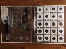 France - Lot with 180 coins, 1782/1994, including 14 silver coins.