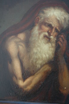 St. Jerome, meditating, Neapolitan school - unknown artist of the 18th century