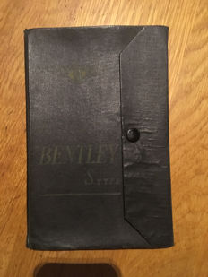 "Original handbook (manual) for Bentley ""S"" type"