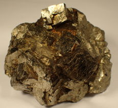 Very nice golden pyrite cubes and other minerals, rare from Trepca, Kosovo - 88,32 x 71,02 x 66,49mm - 789 g