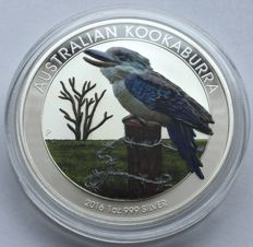 Australia – 1 dollar 2016 'Kookaburra' exclusive colour edition – 1 oz silver